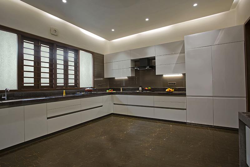 L-Shaped modular kitchen design
