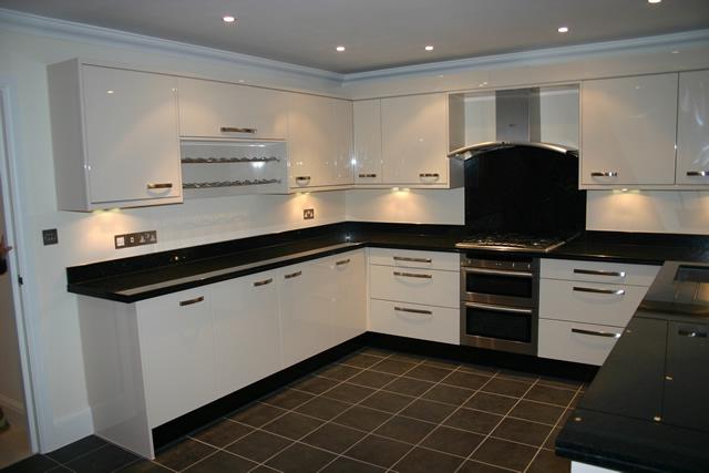 U-Shaped modular kitchen design