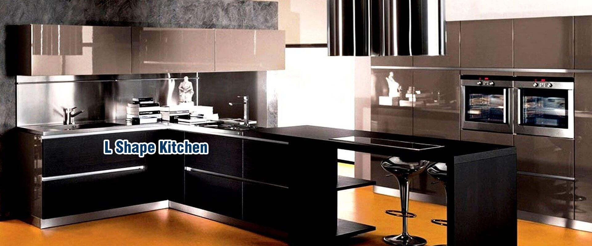 L shape kitchen for Italian modular kitchen
