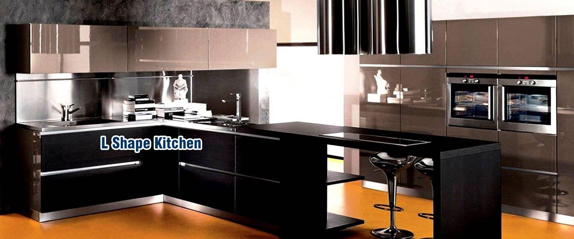 L shape kitchen for Italian modular kitchen